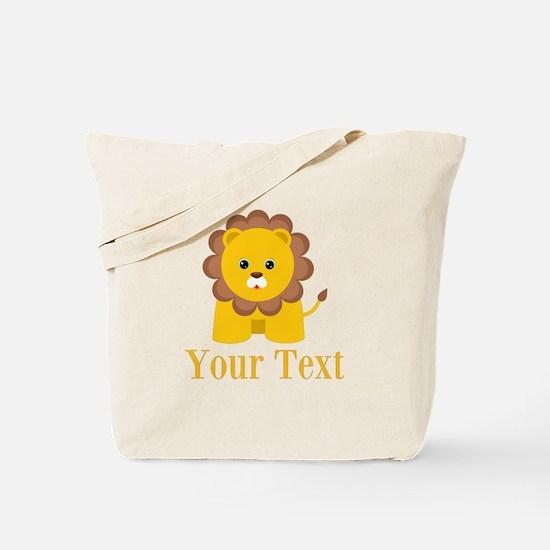 Personalizable Little Lion Tote Bag