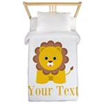 Personalizable Little Lion Twin Duvet