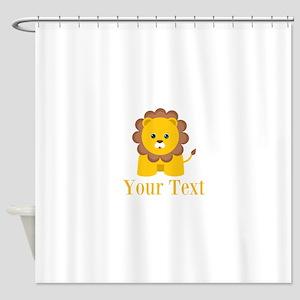 Personalizable Little Lion Shower Curtain