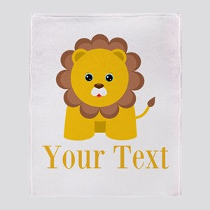 Personalizable Little Lion Throw Blanket
