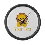 Personalizable Little Lion Large Wall Clock