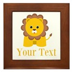 Personalizable Little Lion Framed Tile