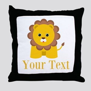 Personalizable Little Lion Throw Pillow