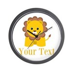 Personalizable Little Lion Wall Clock