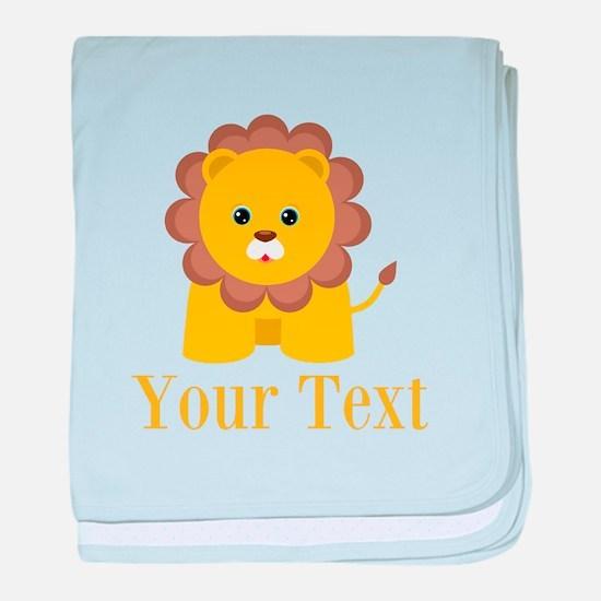 Personalizable Little Lion baby blanket