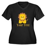 Personalizable Little Lion Plus Size T-Shirt
