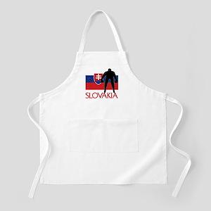 Slovakia Flag Hokey Apron