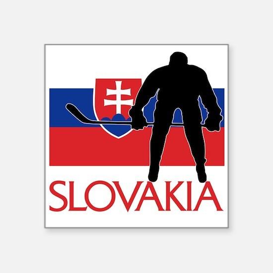 Slovakia Flag Hokey Sticker