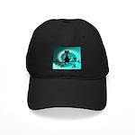 Black Cat on Branch Wave Baseball Hat