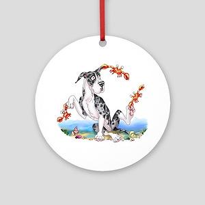 Great Dane MerleB Crabby Ornament (Round)
