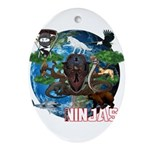 Natures Ninjas of The World Ornament (Oval)