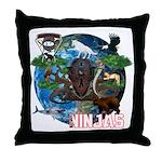 Natures Ninjas of The World Throw Pillow