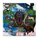 Natures Ninjas of The World Tile Coaster
