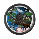 Natures Ninjas of The World Large Wall Clock