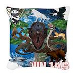 Natures Ninjas of The World Woven Throw Pillow