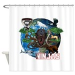 Natures Ninjas of The World Shower Curtain
