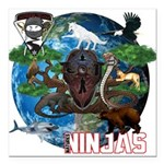 Natures Ninjas of The World Square Car Magnet 3