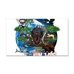 Natures Ninjas of The World Rectangle Car Magnet