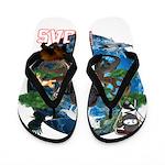 Natures Ninjas of The World Flip Flops