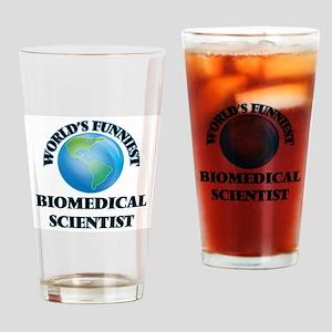 World's Funniest Biomedical Scienti Drinking Glass