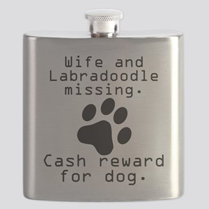 Wife And Labradoodle Missing Flask