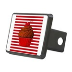 Red Brown Cupcake Stripes Hitch Cover