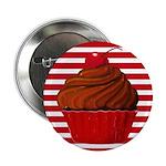 Red Brown Cupcake Stripes 2.25