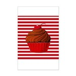 Red Brown Cupcake Stripes Posters