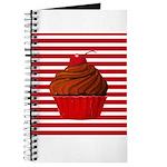 Red Brown Cupcake Stripes Journal