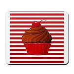Red Brown Cupcake Stripes Mousepad