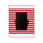 Red Brown Cupcake Stripes Picture Frame