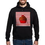 Red Brown Cupcake Stripes Hoodie