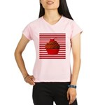 Red Brown Cupcake Stripes Performance Dry T-Shirt