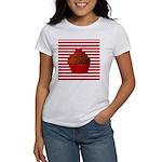 Red Brown Cupcake Stripes T-Shirt