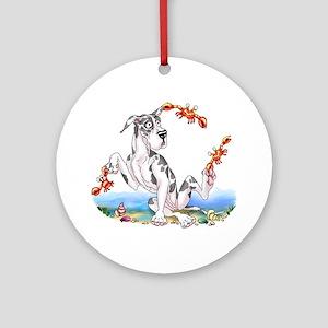 Great Dane Harle Crabby Ornament (Round)