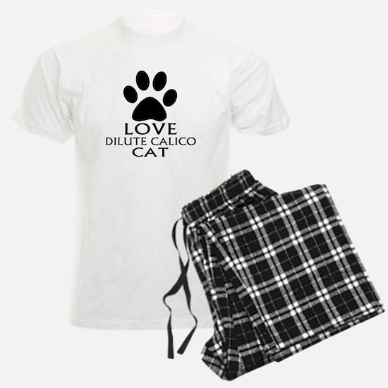 Love Dilute Calico Cat Design Pajamas