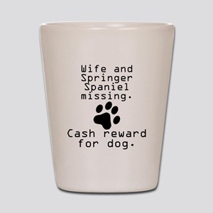 Wife And Springer Spaniel Missing Shot Glass
