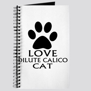 Love Dilute Calico Cat Designs Journal