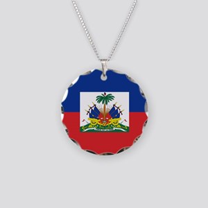 00-but-haitiflag Necklace Circle Charm