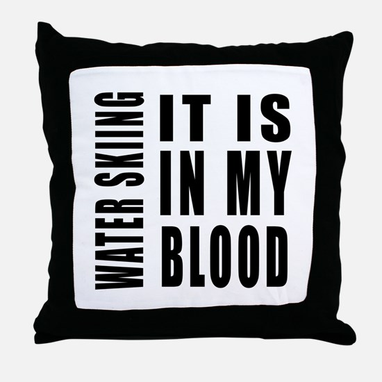 Wind Surfing it is in my blood Throw Pillow