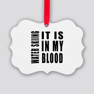 Wind Surfing it is in my blood Picture Ornament