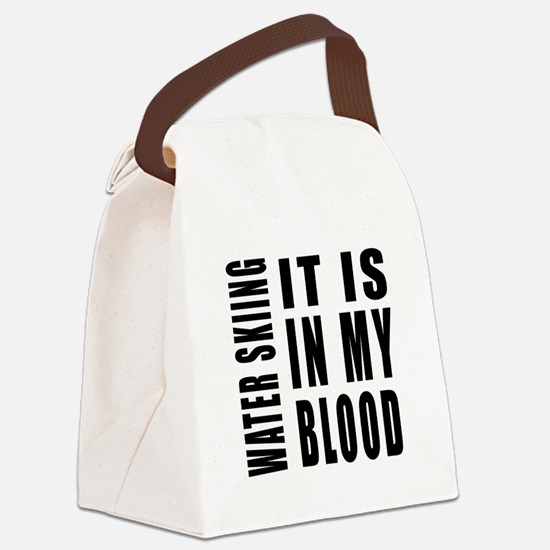 Wind Surfing it is in my blood Canvas Lunch Bag