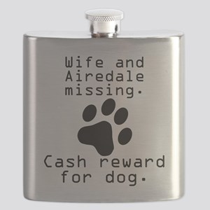Wife And Airedale Missing Flask
