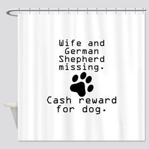 Wife And German Shepherd Missing Shower Curtain