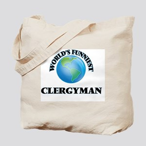 World's Funniest Clergyman Tote Bag