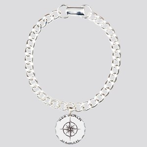 Hawaii - Kee Beach Charm Bracelet, One Charm