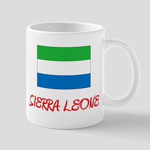 Sierra Leone Flag Artistic Red Design Mugs