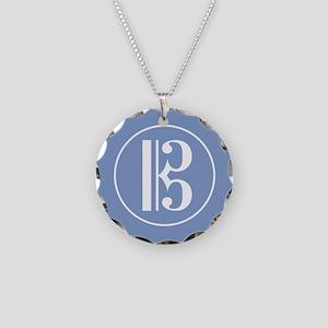 Alto Clef Necklace Circle Charm