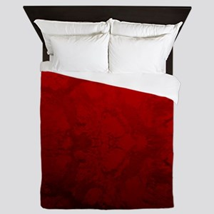 Red Satin Design Queen Duvet