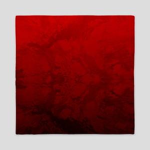 Red Satin Design Queen Duvet